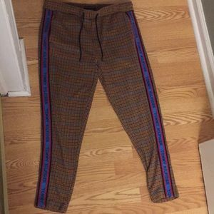 Tommy Hilfiger plaid striped down pants